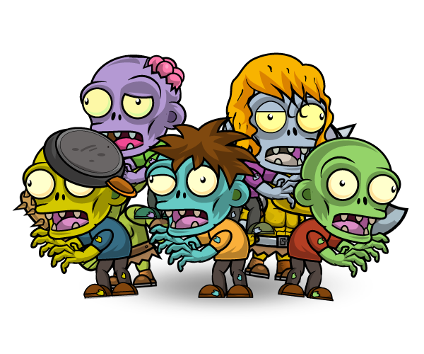 Zombie Enemies Character Set - Royalty Free Game Art