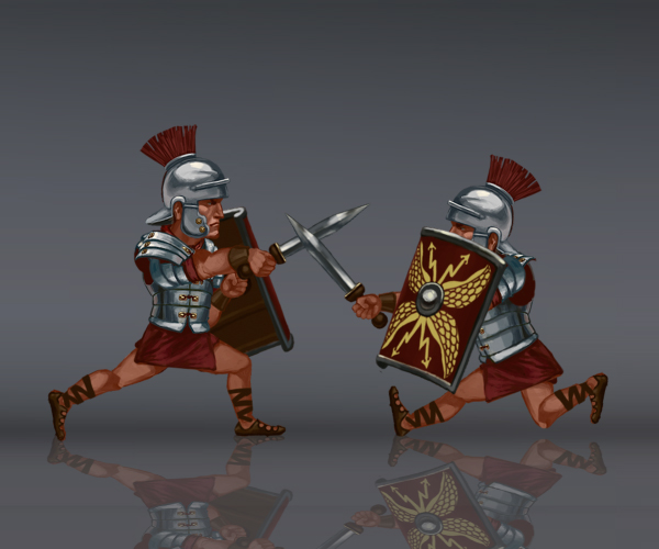 Roman Legionnaire Royalty Free Game Art Thumb