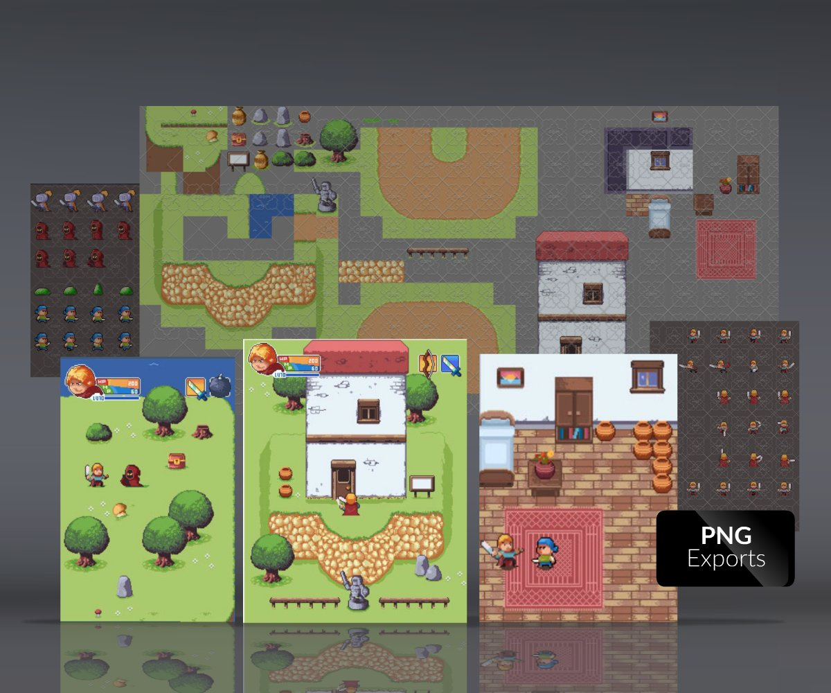 Top Down Pixel Art RPG Game Pack
