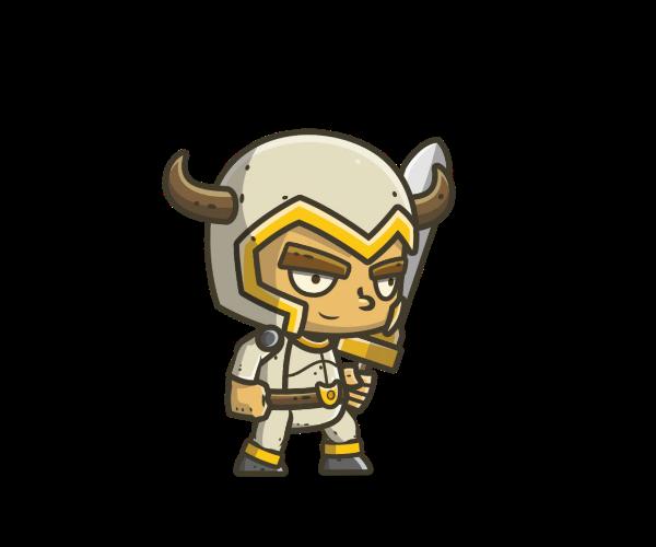 Chibi Knight 1 Royalty Free Game Art