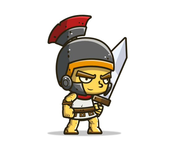 Chibi Knight 3 Royalty Free Game Art