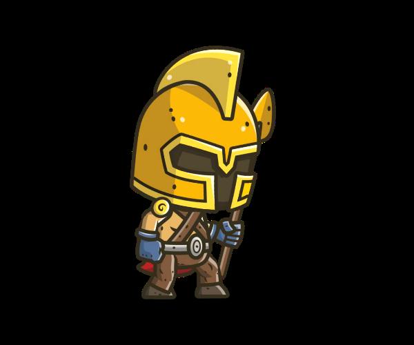 Chibi Knight 4 Royalty Free Game Art