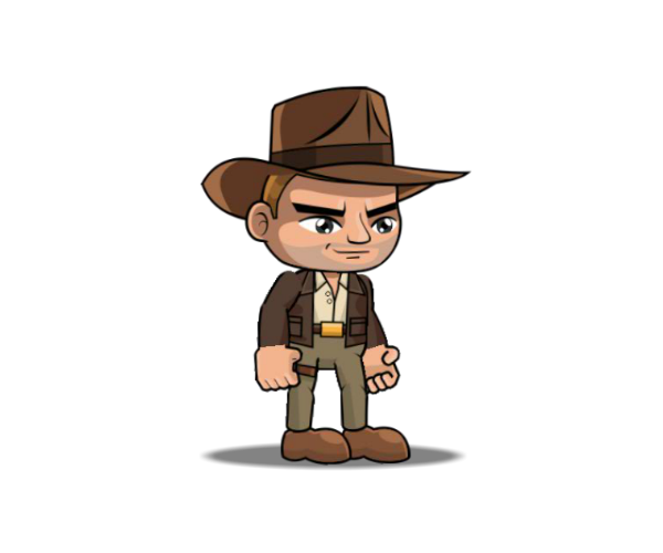 Indiana Jones style royalty free game art