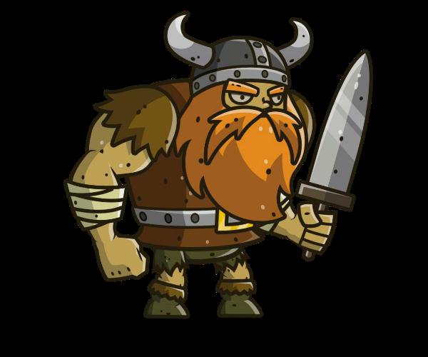 Muscular Viking Royalty Free Game Art