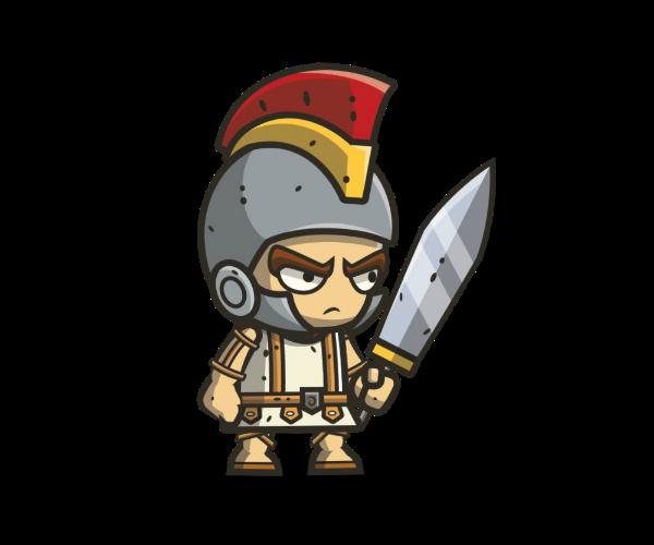 Roman Knight Royalty Free Game Art