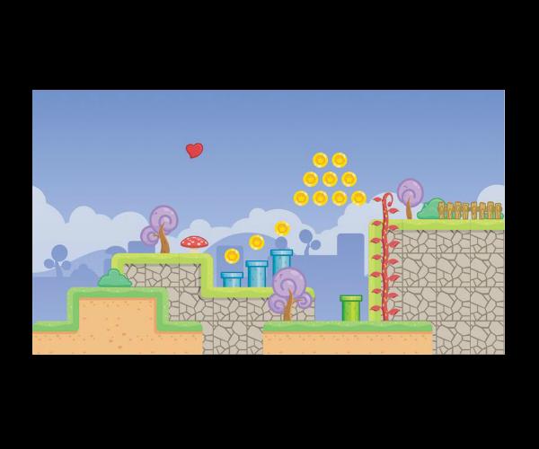 Royalty free game art platform level fantasy village2