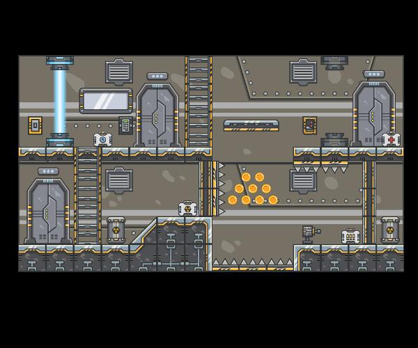 spaceship platform art for side scroller games