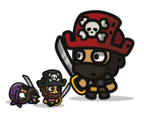 tiny pirates royalty free game art featured