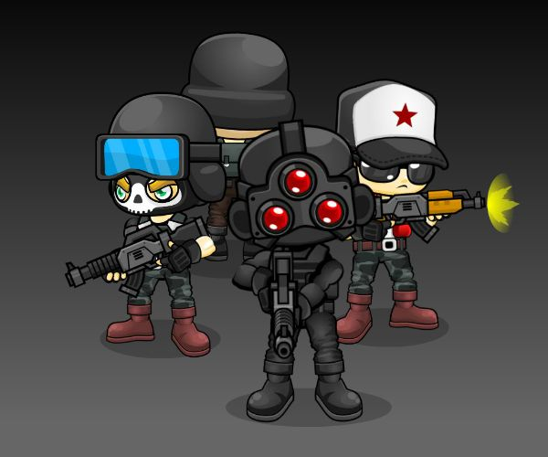 Four Directional Solider Game Art