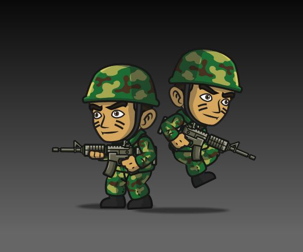Frontline Army Character Game Art 2