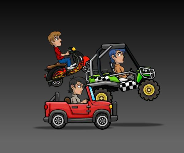 Hill Racing Vehicles Royalty Free Game Art