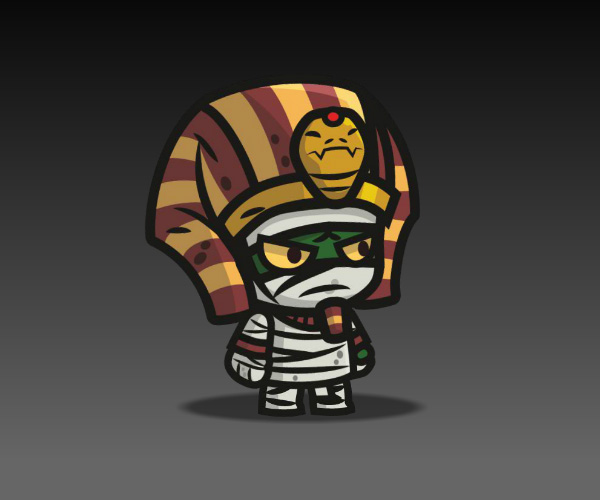 Egyptian Mummy royalty free game art