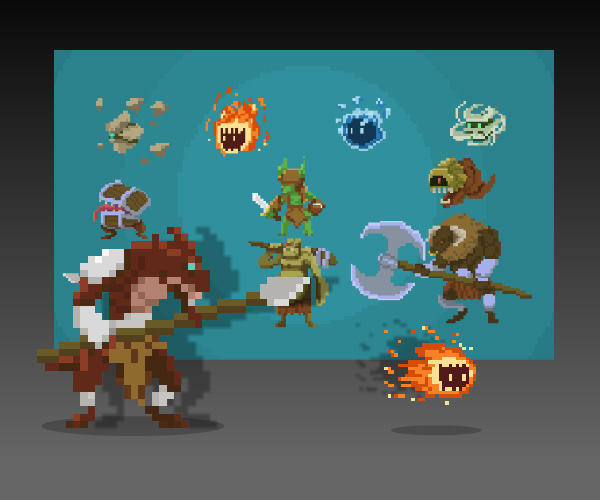 Pixel Art Monster Pack - Royalty Free Game Art