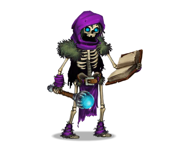 skeleton mage Royalty Free Game Art Character