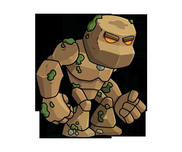 Living Rock Earth Monster Royalty Free Game Art