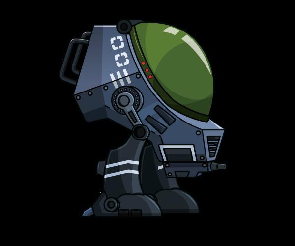 War Bot Royalty Free Game Art