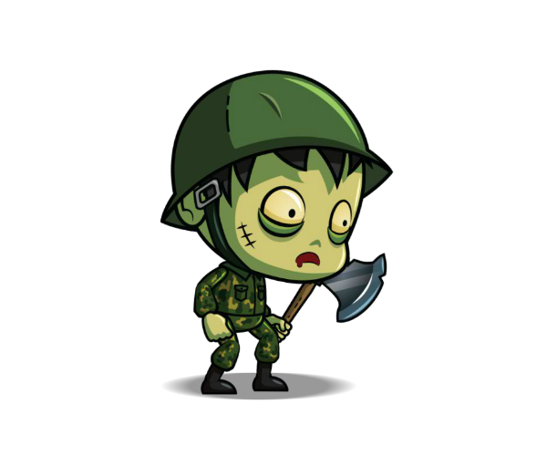 Zombie Army Character Royalty Free Game Art