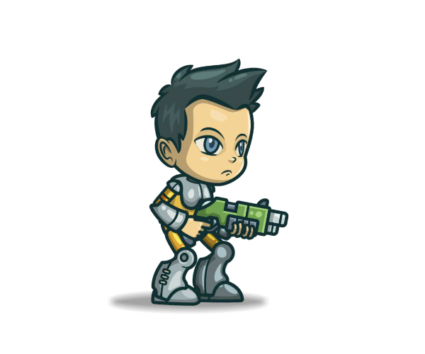 George from Space Squad Royalty Free Game Art