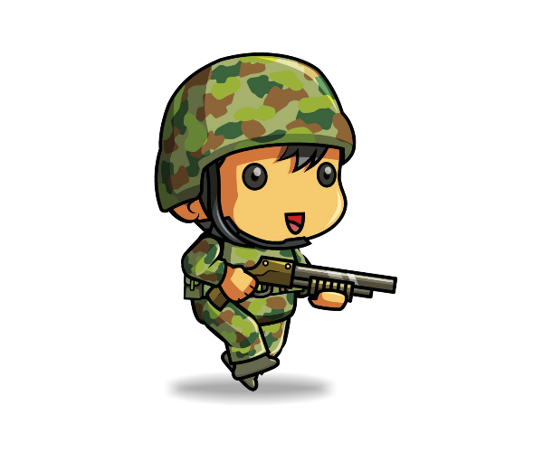 Royalty Free Game Art Tiny Army Soldier Featured 3