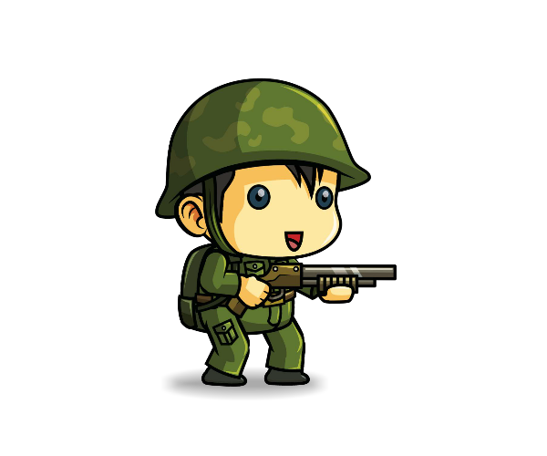 Royalty Free Game Art Tiny Army Soldier Featured