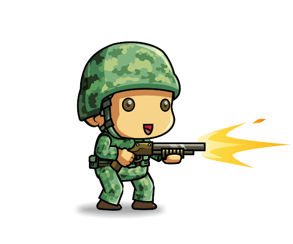 Royalty Free Game Art Tiny Army Soldier Featured2