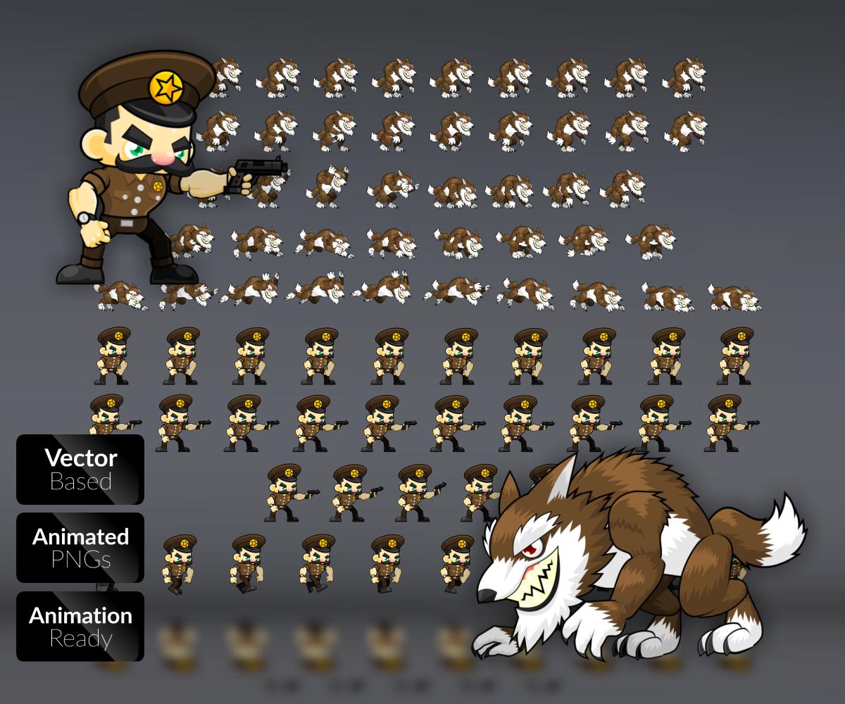 Werewolf Character Set - Game Art Partners