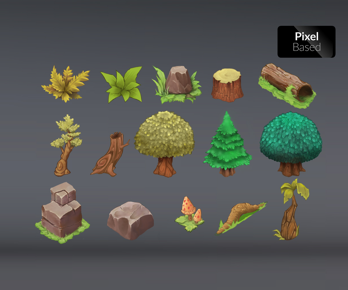 Isometric Forest - Game Art Partners